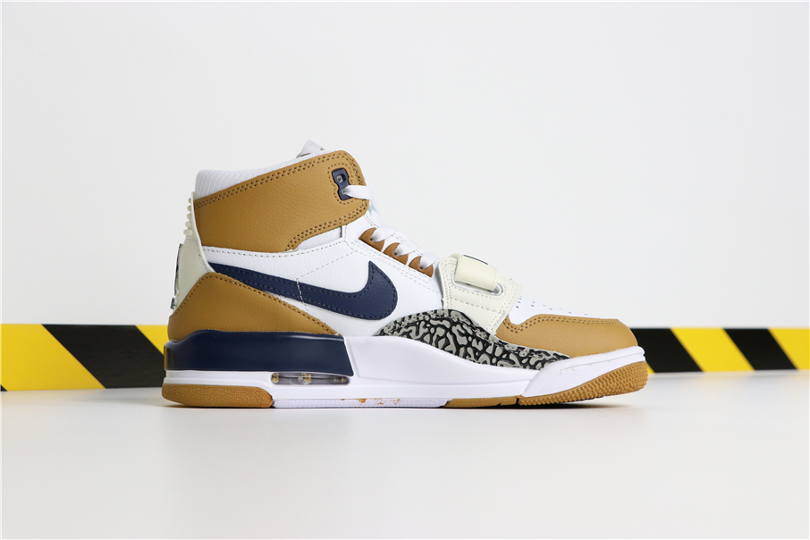 Men Don C x Jordan Legacy 312 AIR TRAINER 3 White Yellow Shoes