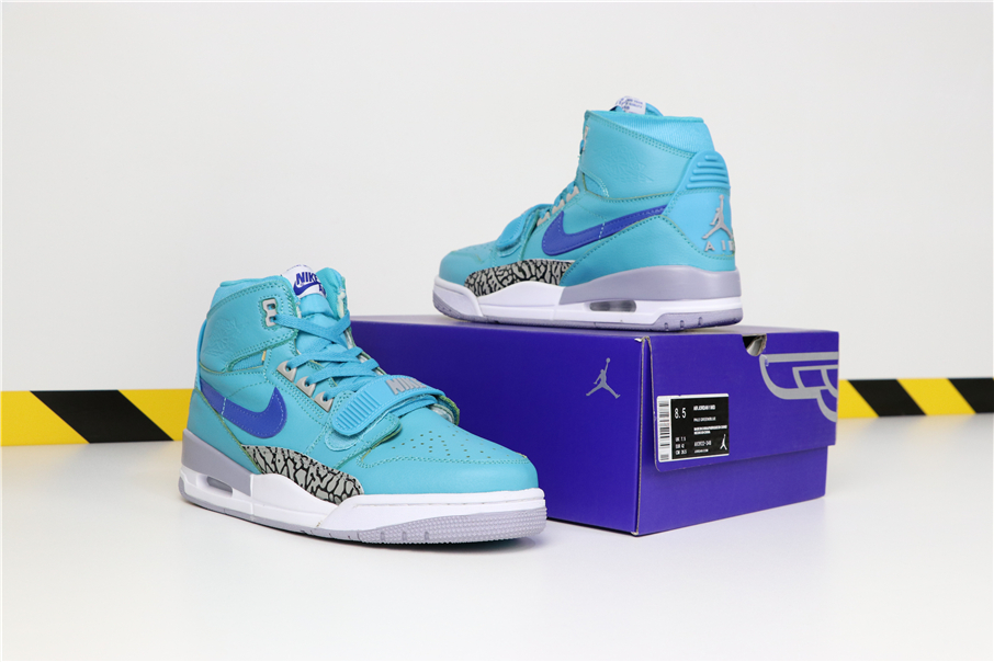 Men Don C x Jordan Legacy 312 Sea Blue Shoes