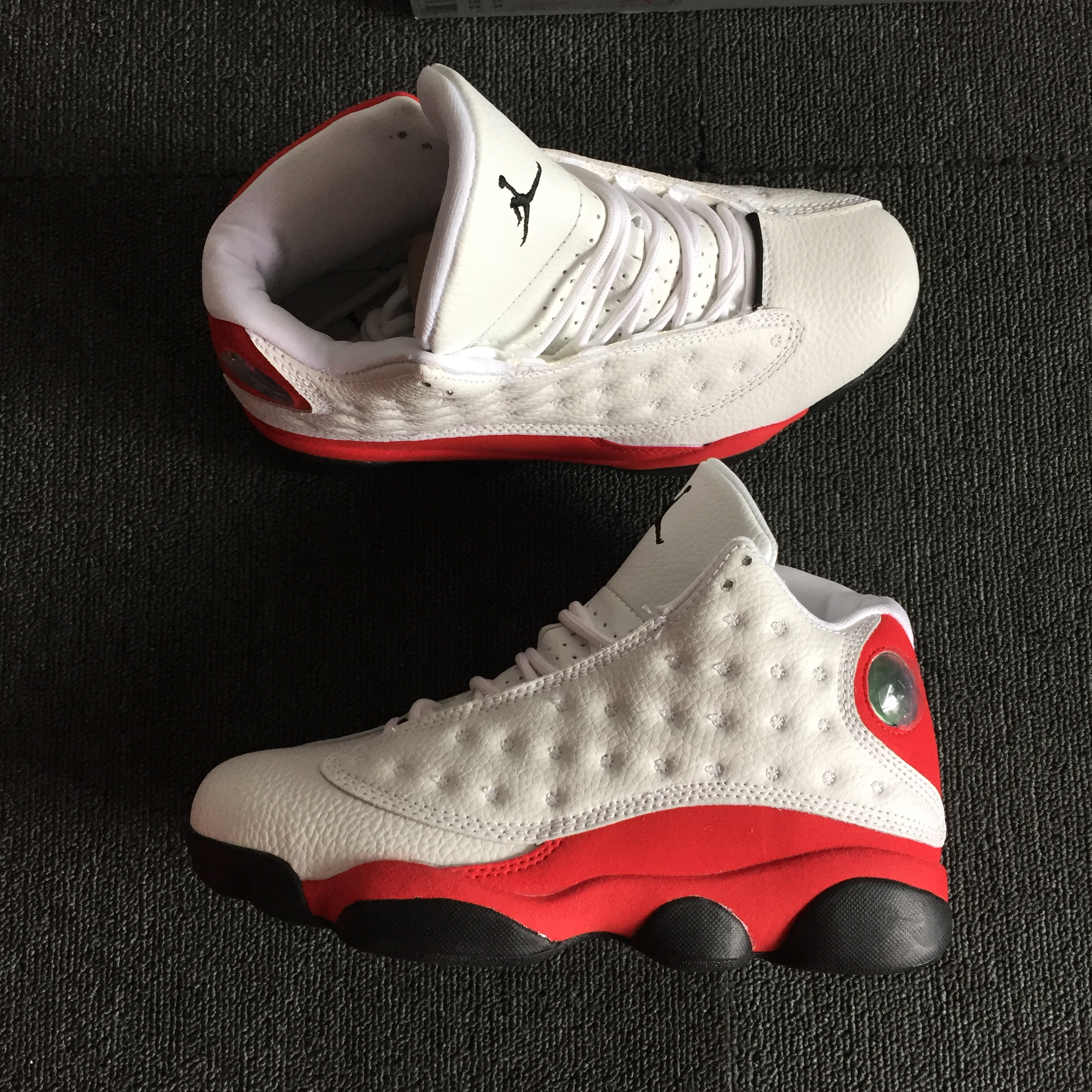 Men Jordan 13 Chicago Red White Shoes