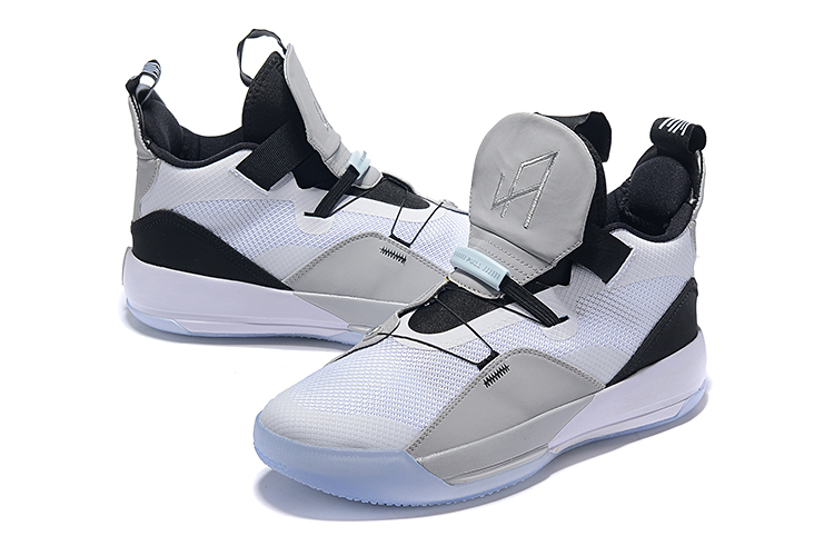 Men Jordan 33 White Grey Black Shoes