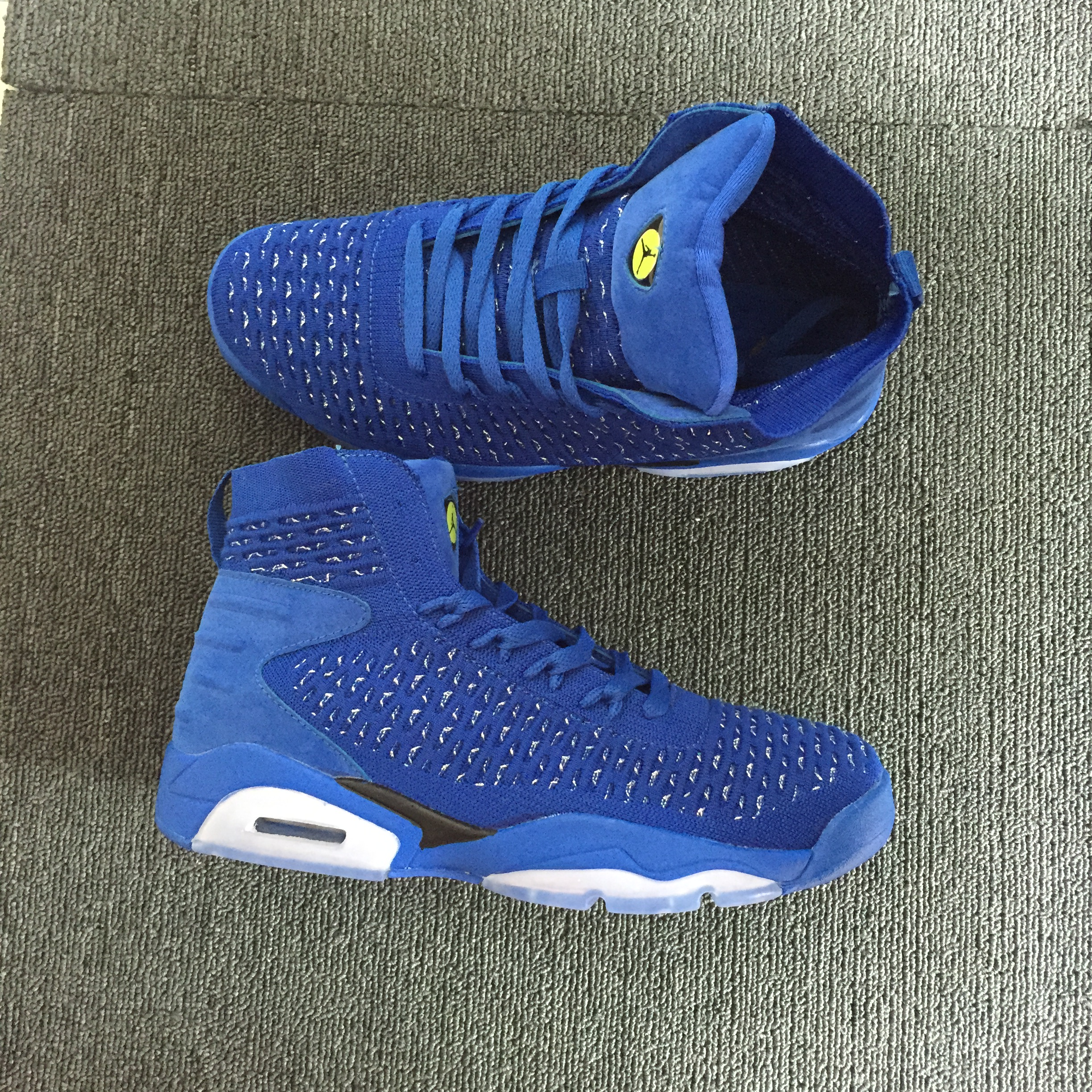 Men Jordan 6 Flyknit China Blue Shoes