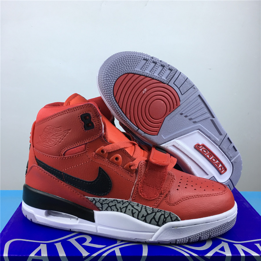 Men Jordan Legacy 312 Dark Orange Black Shoes