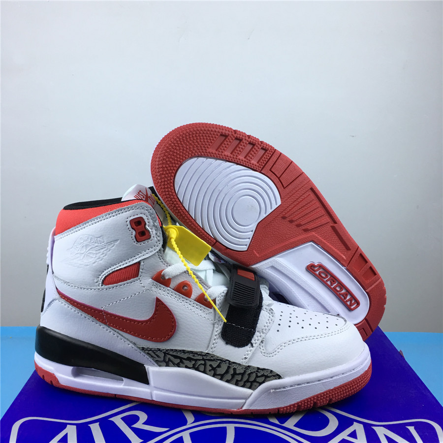Men Jordan Legacy 312 White Red Black Shoes