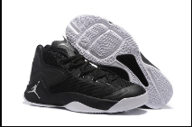 Men Jordan Melo 12 All Black White Shoes