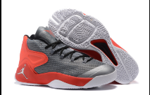 Men Jordan Melo 12 Grey Red Shoes