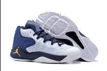 Men Jordan Melo 12 White Blue Yellow Shoes