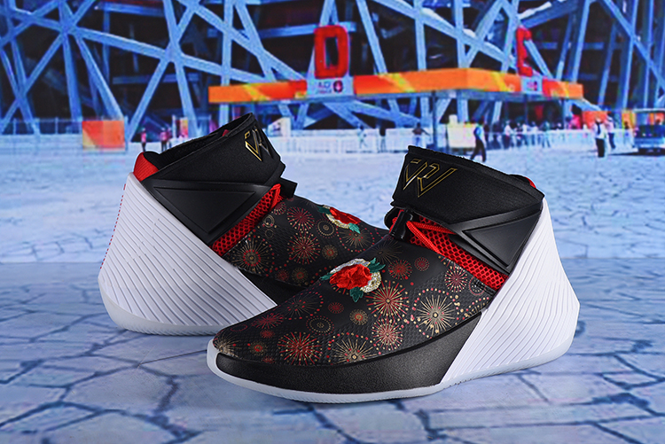 Men Jordan Why Not Zer0.1 CNY Black Flor Print Shoes