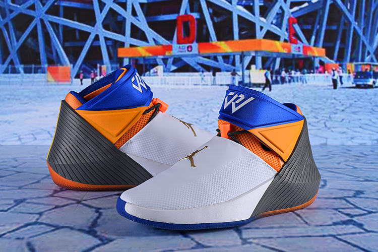 Men Jordan Why Not Zer0.1 White Yellow Blue Black Shoes