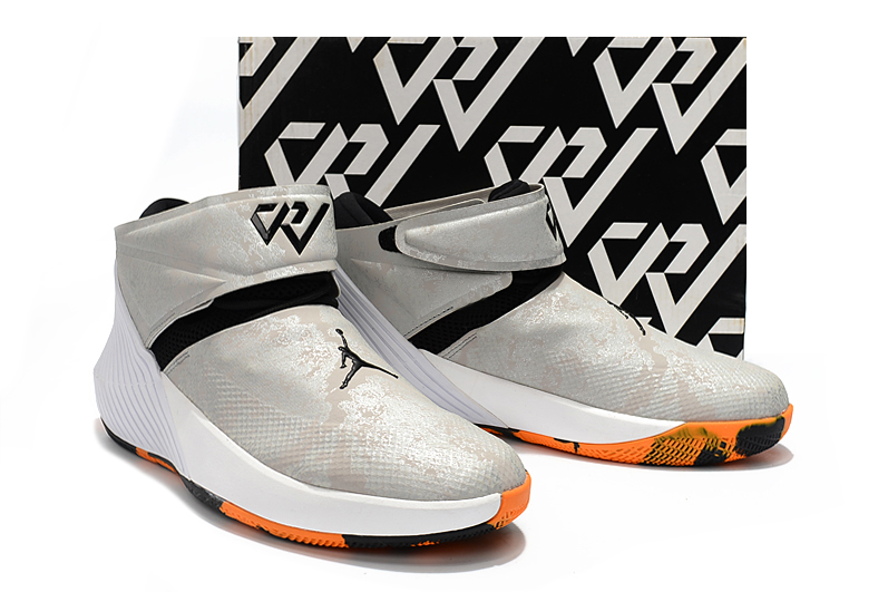 Men Jordan Why Not Zero.1 Silver Black Orange