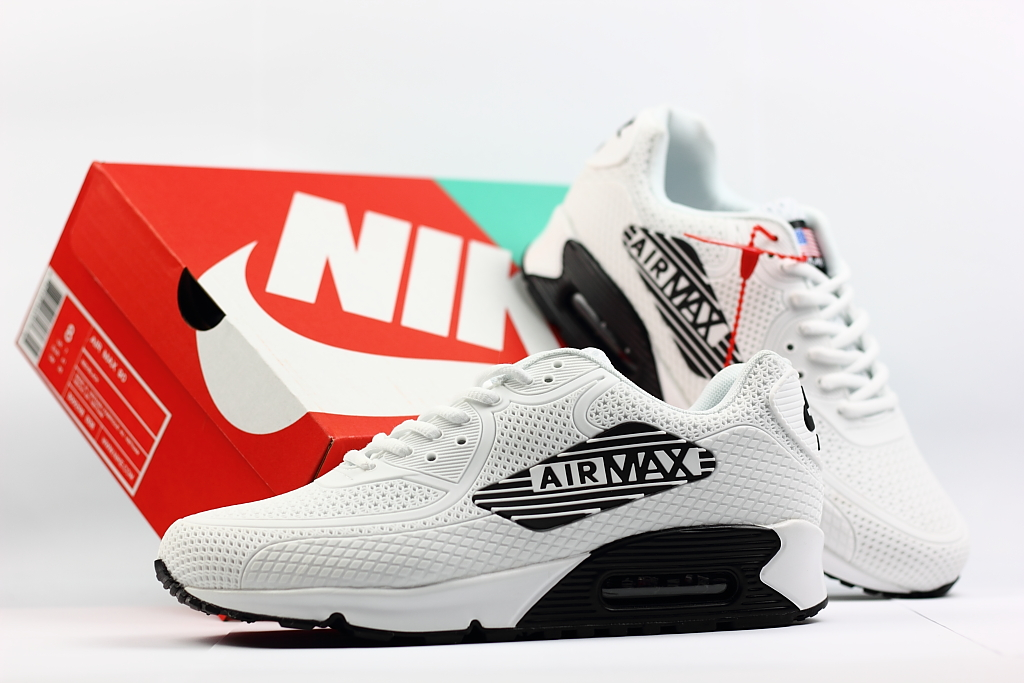 Men Nike Air Max 90 Nano White Black Shoes