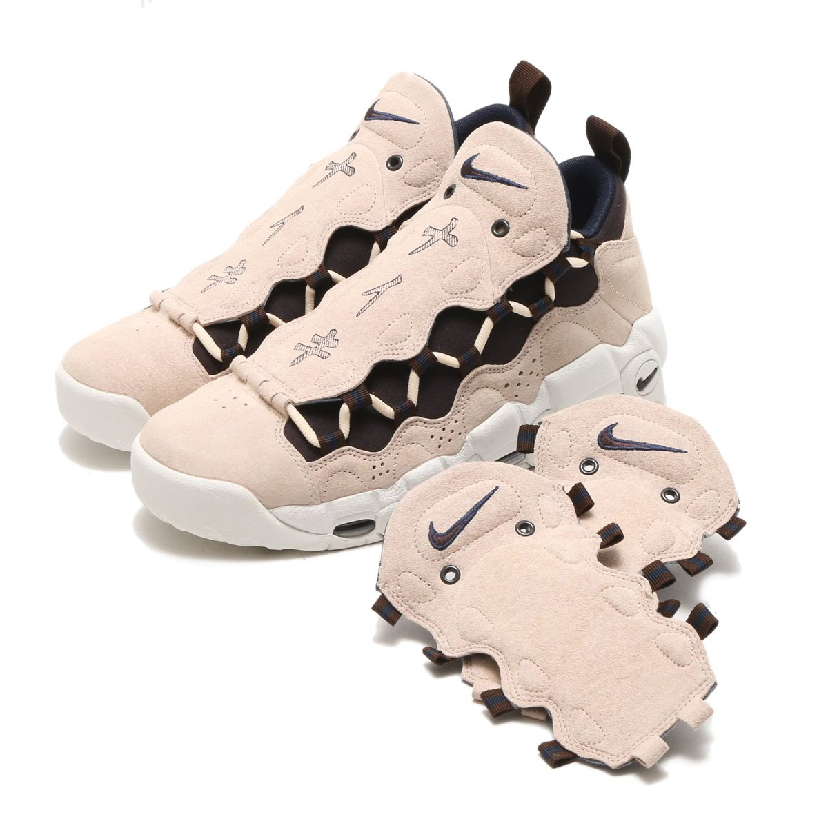 Men Nike Air More Money QS JP Pink Black