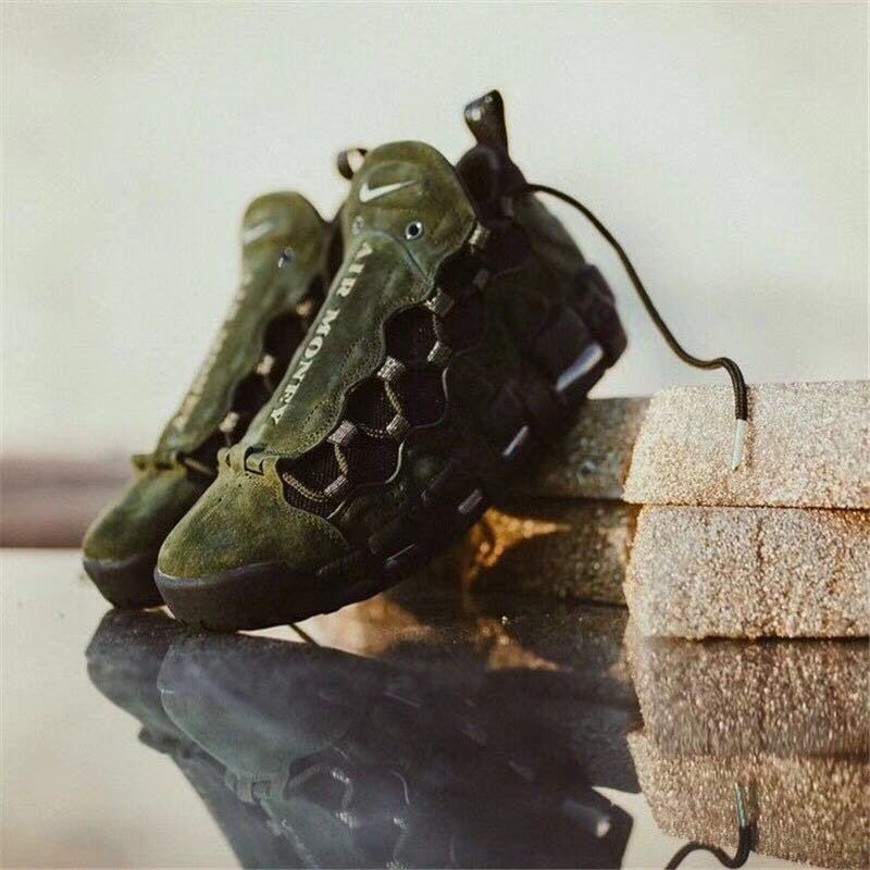 Men Nike Air More Money USA Army Green