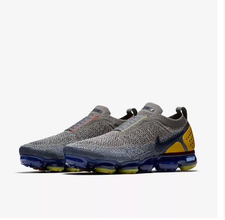 Men Nike Air VaporMax FK Moc Grey Yellow Running Shoes