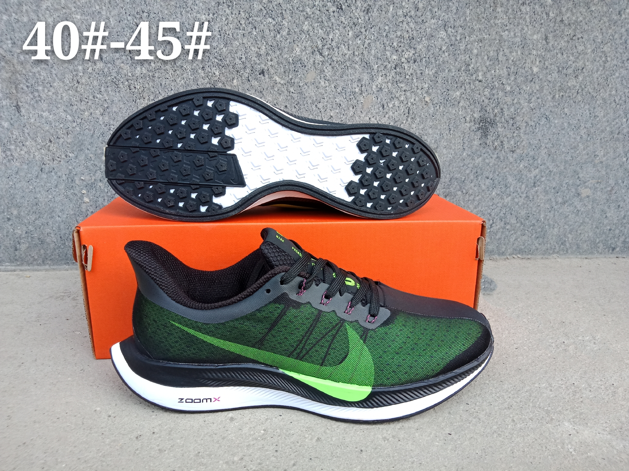 Men Nike Air Zoom Pegasus 35X Green Black Shoes