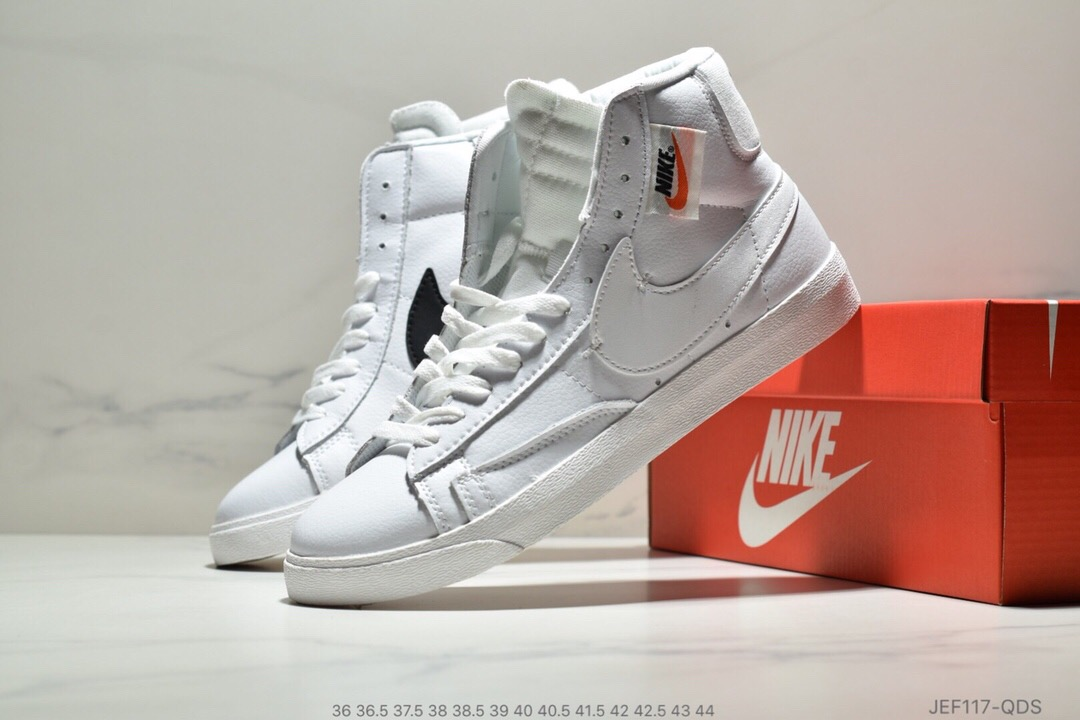 Men Nike Blazer Mid Redel All White Shoes