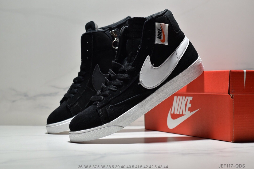 Men Nike Blazer Mid Redel Black White Shoes