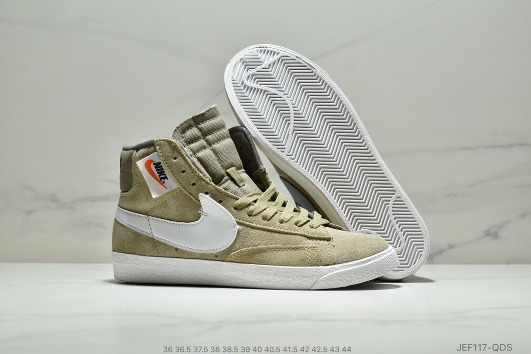 Men Nike Blazer Mid Redel Green White Shoes