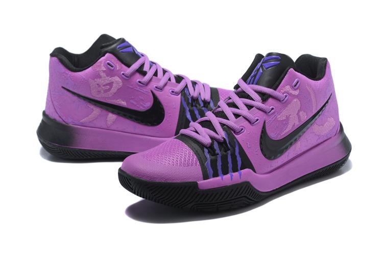 info for 40aa5 ff307 Men Nike Kyrie 3 Bruce Lee Purple Black Blue Shoes ...