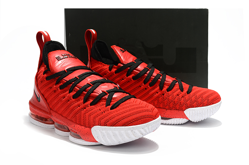 competitive price 29279 1f874 Men Nike LeBron 16 Red Black White Shoes [18women8515 ...
