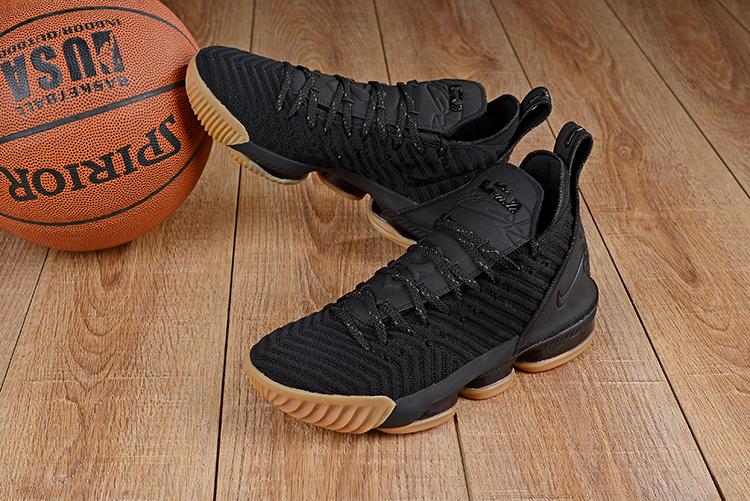 08c32ea1f01 Men Nike LeBron James 16 Black Gum Sole Shoes  18women9704  -  92.00 ...