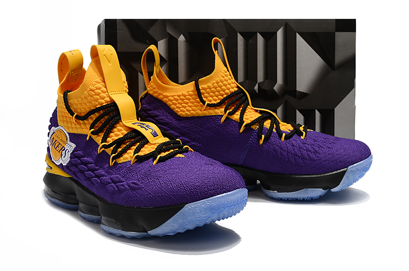 b332994e631 ... real men nike lebron james 15 lakers purple yellow black shoes ca8f3  e54fe