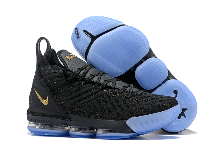 coupon code many styles sold worldwide Men Nike Lebron James 16 Black Gold Blue Shoes [18women81108 ...