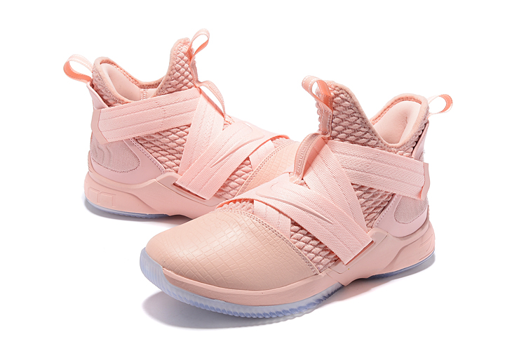 85821f338f8 Men Nike Lebron James Soldier 12 Breast Cancer Shoes  18women9715 ...