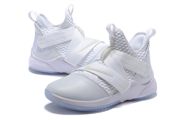 Men Nike Lebron James Soldier 12 Pure White