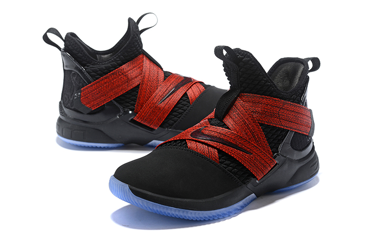 Men Nike Lebron Soldier 12 Black Red Blue Shoes  18women72005 ... 92f9236d1