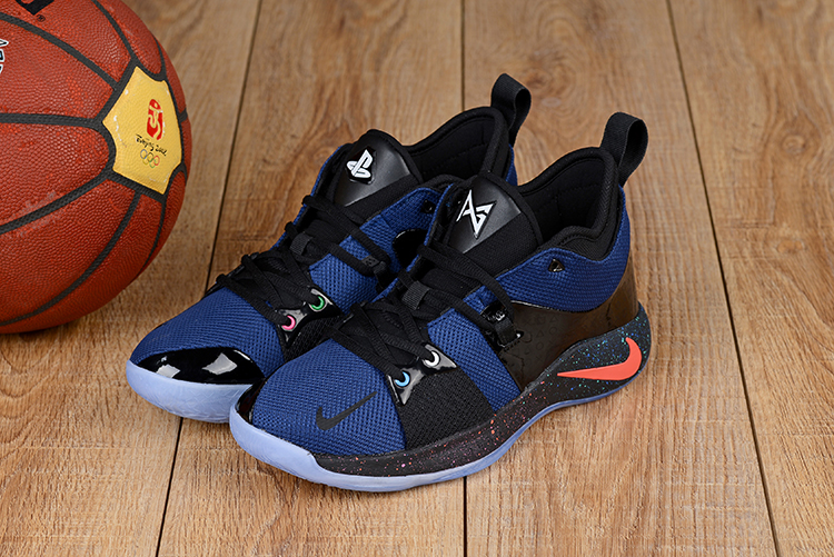 Men Nike PG 2 Black Blue Orange