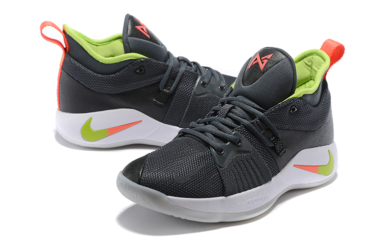 Men Nike PG 2 Black Green Reddish Orange
