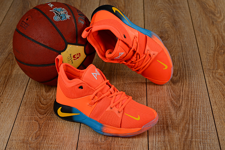Men Nike PG 2 Orange Yellow