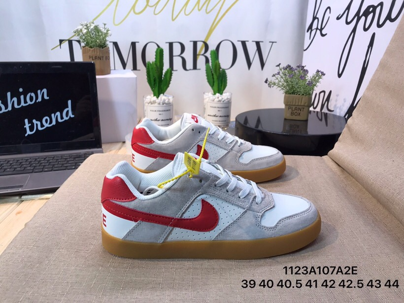 Men Nike SB Delta Force VULC White Grey Red Shoes