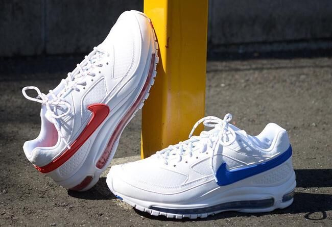 Men Skepta x Nike Air Max 97 BW White Blue Red Shoes