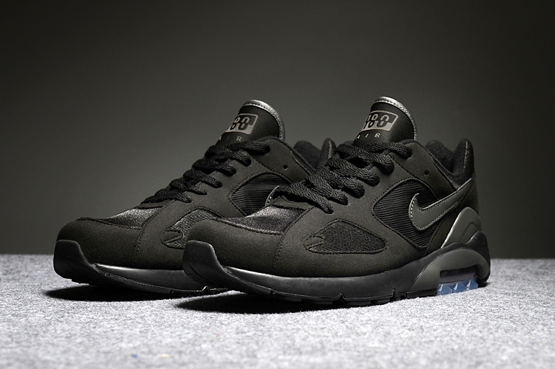 Men's Nike Air Max 180 All Black Running Shoes