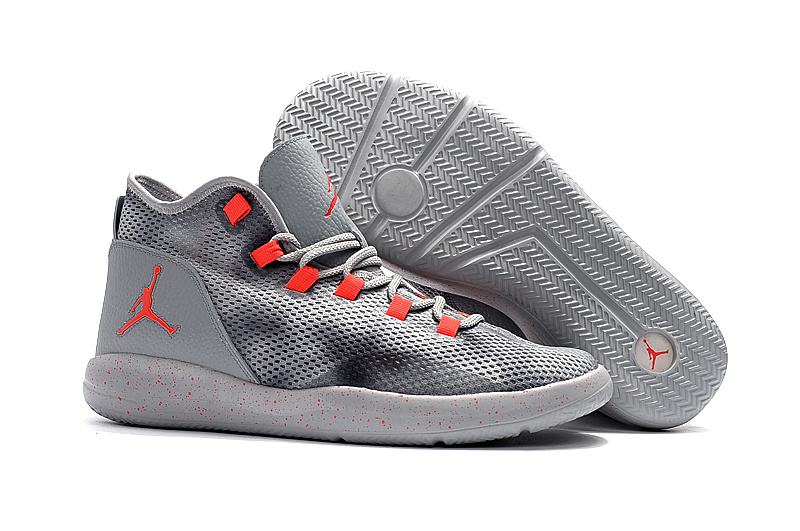 Men 2017 Air Jordan Grey Red Shoes