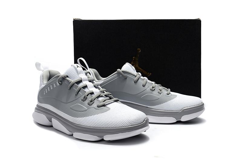 0a6d30d68b2e42 Men 2017 Air Jordan Low Grey White Outdoor Basketball Shoes