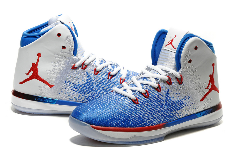 Men Air Jordan 31 Blue Red White Shoes
