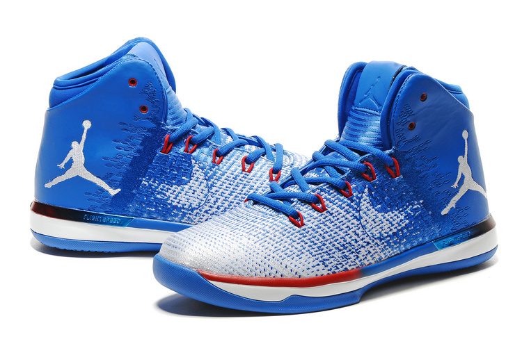 Men Air Jordan 31 Blue White Red Shoes