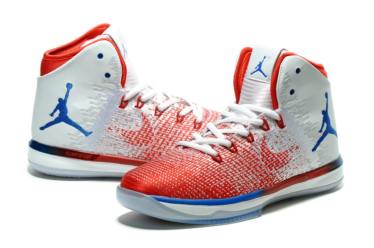 Men Air Jordan 31 Red White Blue Shoes