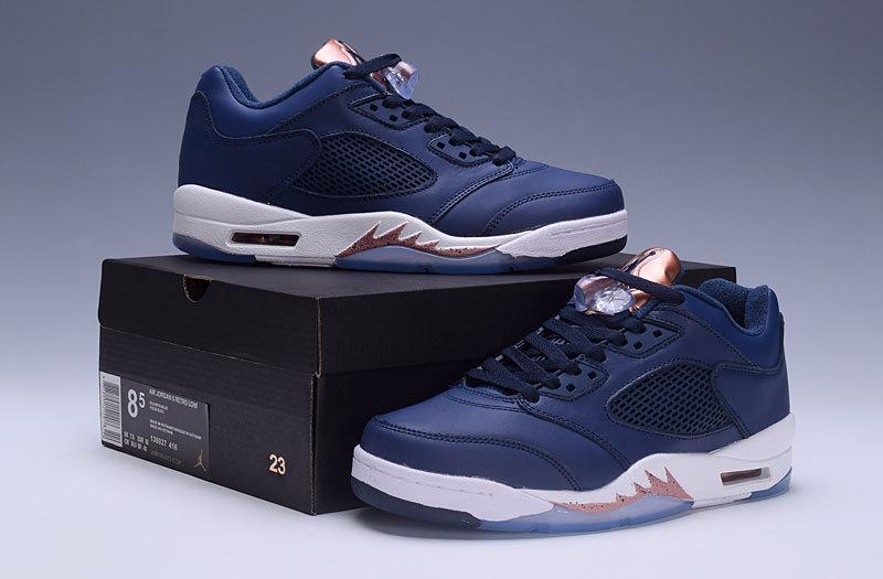 189bf8b4a3e Men Air Jordan 5 Retro Blue Copper White Shoes