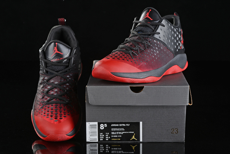 Men Air Jordan Extra Fly Black Red Shoes
