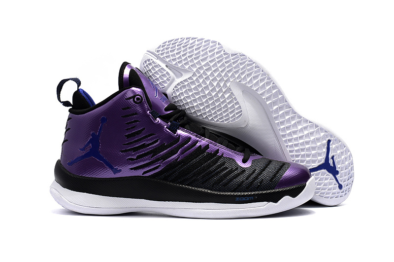 Men Air Jordan Extra.Fly Black Purple Shoes