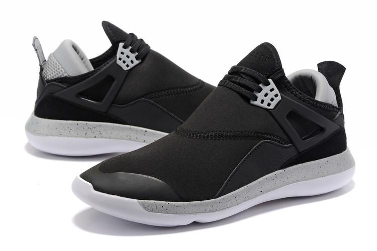 a670a78e143f Men Air Jordan Fly 89 AJ4 Black Grey White Running Shoes