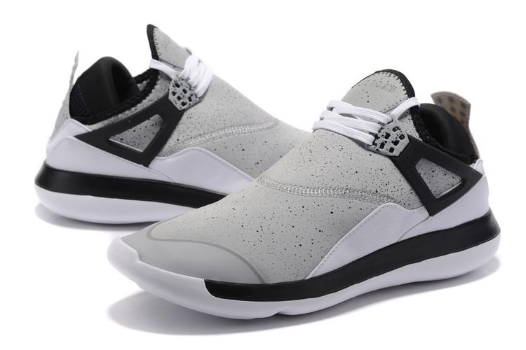 b47903f7240 Men Air Jordan Fly 89 AJ4 Grey Black White Running Shoes  WOMEN1836 ...