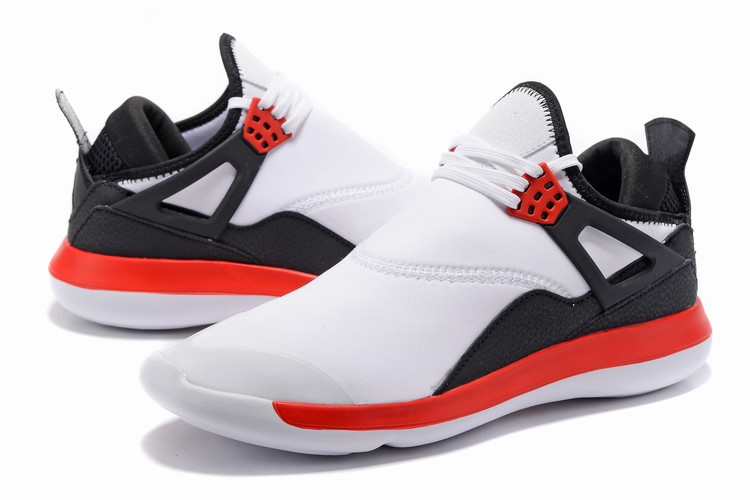 Men Air Jordan Fly 89 AJ4 White Red Black Running Shoes