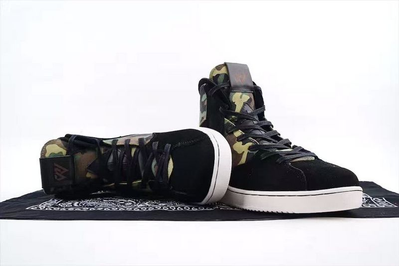 Men Air Jordan Westbrook Black Gold Basketball Shoes
