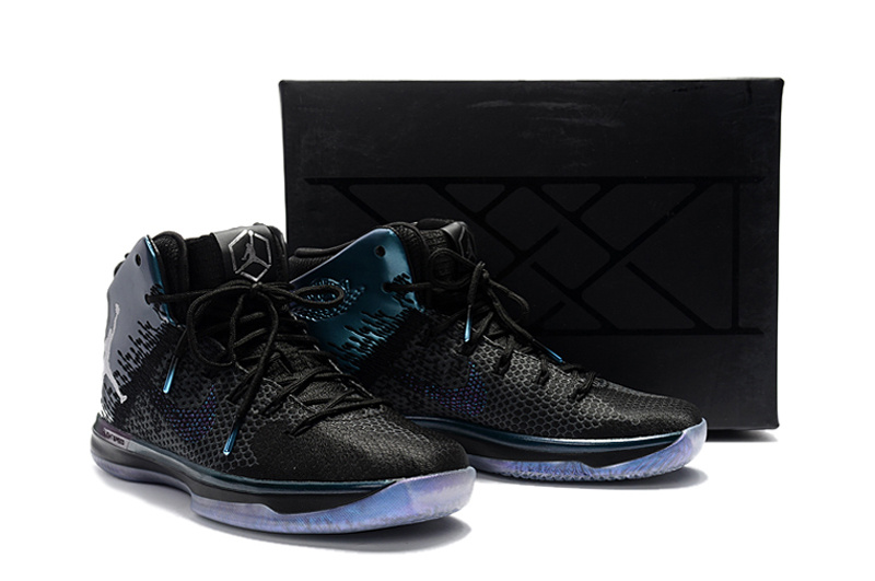 Men Air Jordan XXXI Black Royal Blue Shoes