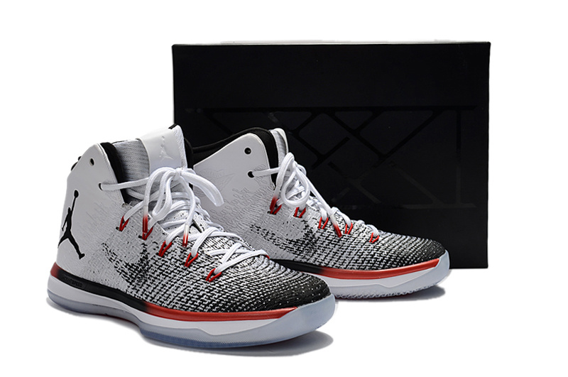 Men Air Jordan XXXI White Black Red Shoes