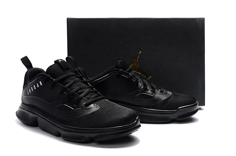 Men All Black Outdoor Jordan Basketall Shoes